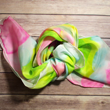 Wednesday Tutorial - Dyed Silk Scarf