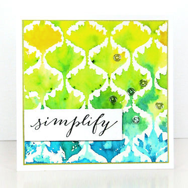 Stamping with Watercolor Powders - Wednesday Tutorial