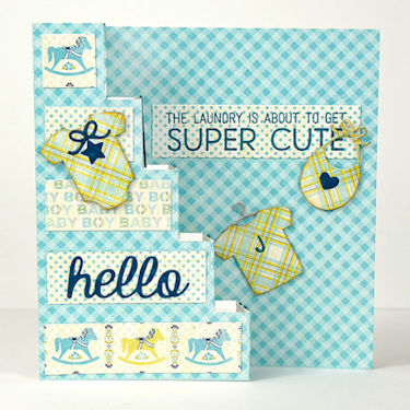 Vertical Step Card - Wednesday Tutorial